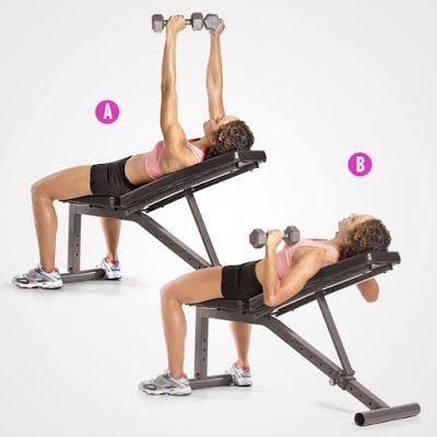 Đẩy tạ tay trên ghế nghiêng