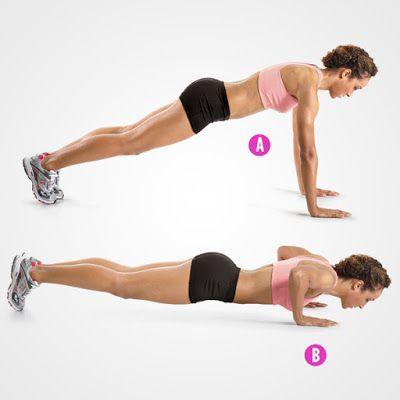 Hít đất giúp cơ ngực phát triển rất tốt
