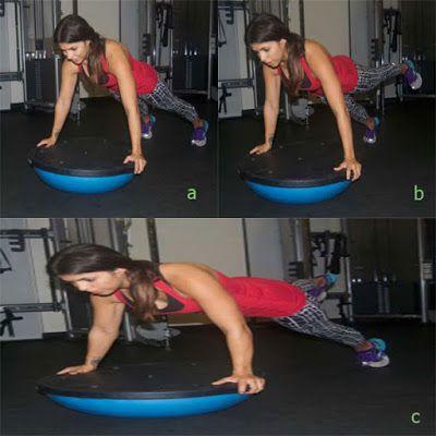 Plank với bóng Bosu