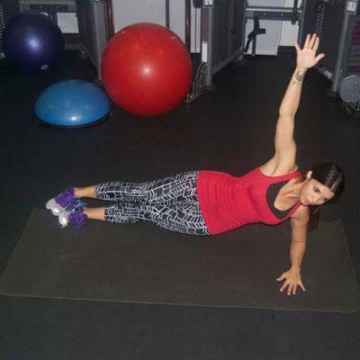Bài tập Plank nghiêng 1 bên nhún hông - B