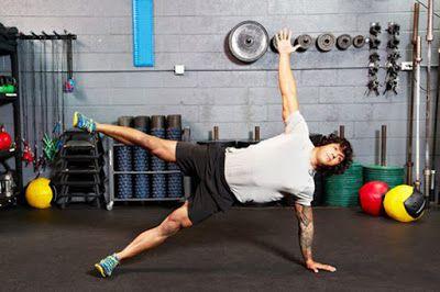 Động tác Plank một bên, tay duỗi - Single-Leg Straight-Arm Side Plank