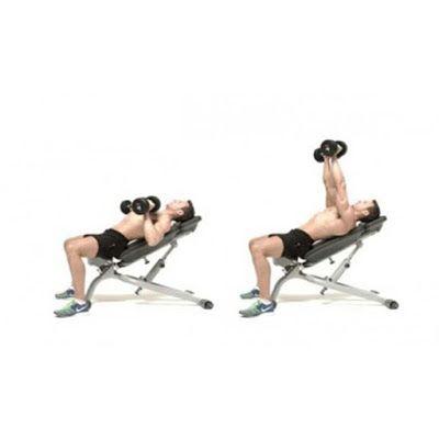 Đẩy tạ đơn trên ghế nghiêng lên