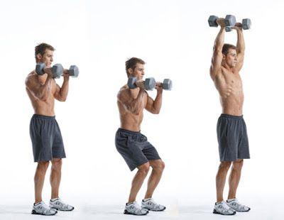 Động tác đẩy tạ tay -Dumbbell push press