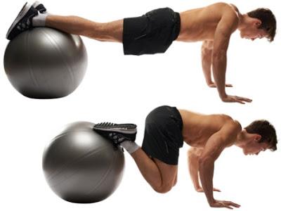 Bài Plank Crunches on Stability Ball