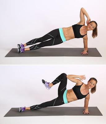 Plank nghiêng cơ cao gối