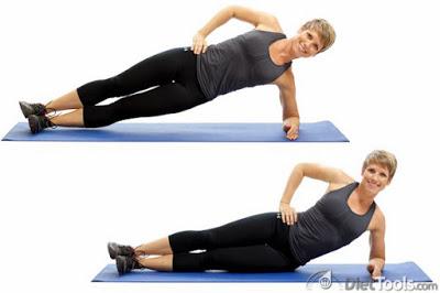 Plank nghiêng đẩy hông