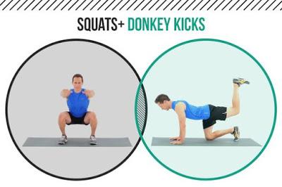 Squat kết hợp Monkey Kick