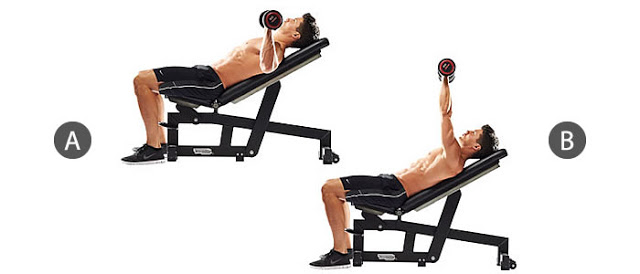 Bài đẩy tạ Barbell Incline Bench Press