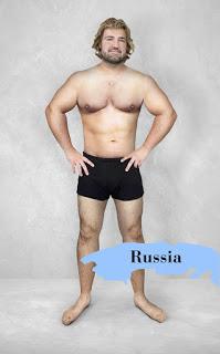 Một trong số ít những quốc gia đặt ra chuẩn mực không chỉ là về cơ thể mà còn là mái tóc, nước Nga muốn đàn ông đẹp trai phải ngực nở tay to, da trắng, tóc bồng bềnh y như hoàng tử trong truyện co tích.