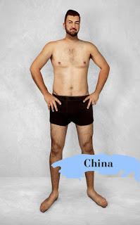 Vốn cũng ảnh hưởng đôi chút bởi xu hướng cái đẹp từ các nước Châu Á khác, người Trung Quốc yêu cầu đàn ông muốn đẹp là phải cao ráo và có cơ. Giờ mới biết là người Trung Quốc thích đàn ông nhiều lông.