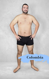 Những quý ông Colombia có thể tự tin hơn, chỉ cần tập luyện vận động để không bị chảy xệ như các nếp nhăn trên người chó Pug là cũng đẹp rồi.