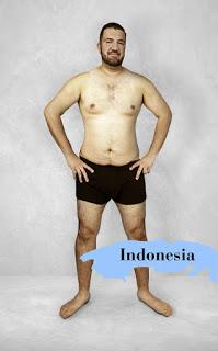 """Chuẩn mực cái đẹp của Indonesia là thân hình """"đồng hồ cát"""" phiên bản đàn ông..."""
