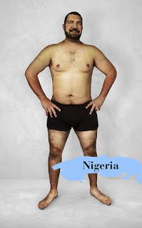 """To cao, đồ sộ, lắm thịt là những gì người Nigeria cảm thấy đẹp ở đàn ông. Còn nữa, kiếm được anh nào có nước da """"sáng"""" như thế này ở Nigeria thì đúng là đẹp trai quá còn gì."""