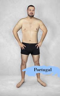 """Người Bồ Đào Nha có vẻ thích phong cách """"phồn thực"""" với chuẩn mực sắc đẹp lý tưởng là cơ thể đàn ông bắt đầu phát tướng ở tuổi chớm đầu 5"""