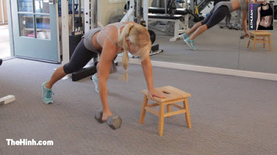 Plank Step Up To Row