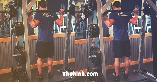 Smith Machine Reverse Calf Raise
