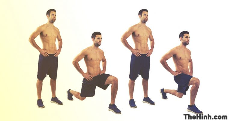 Split Squats – Squat xuống tấn 1 chân (Lunges)