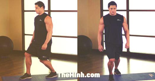 Calf Stretch – Bài tập đứng căng bắp chân