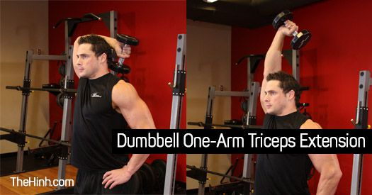 Dumbbell One Arm Tricep Extension