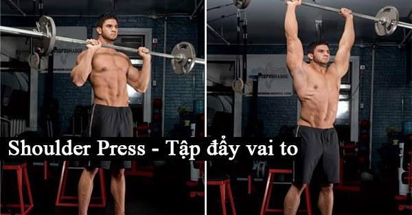 Standing Barbell Shoulder Press