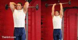 Standing-Overhead-Barbell-Triceps-Extension