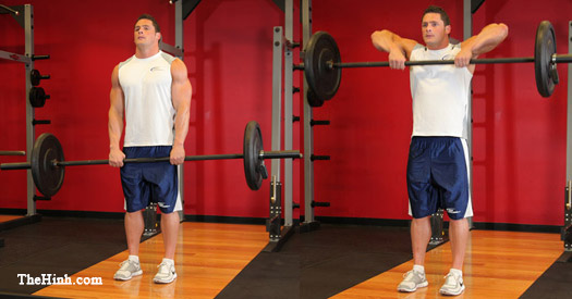 Uprigth Barbell Row