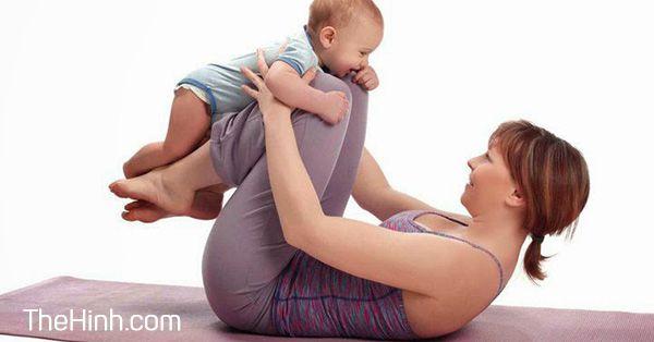 Bài tập giảm cân sau sinh hiệu quả cho các mẹ