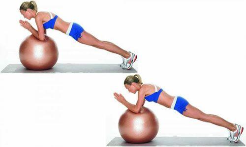 Bài tập Plank lăn bóng