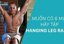 Hanging Leg Raise - Bài tập gập bụng treo người
