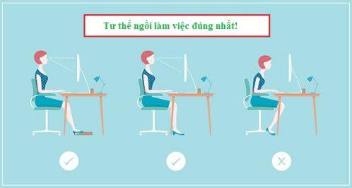 Tư thế ngồi đúng khi học và làm việc