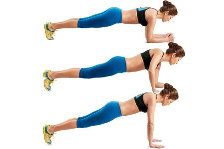 Forearm to pushup plank