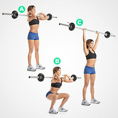 Squat Press With Barbell