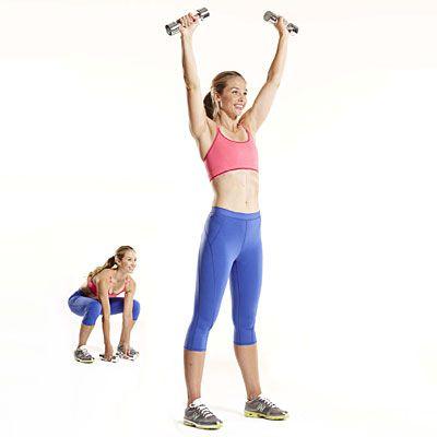 X Squat With Shoulder Press