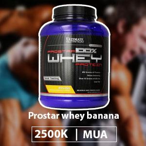 Sữa tăng cơ giảm mỡ hương chuối Prostar whey banana - Giá 2500k