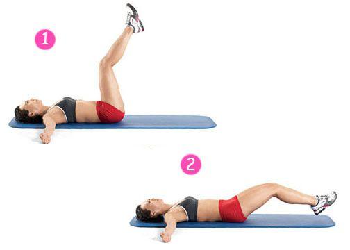 Bài tập giảm mỡ bụng dưới - Bent Knee Leg Raises