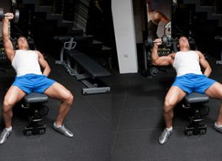 Nằm đẩy tạ 1 tay - Incline One Arm Dumbbell-Bench-Press