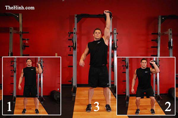 One-Arm Kettlebell-Push-Press