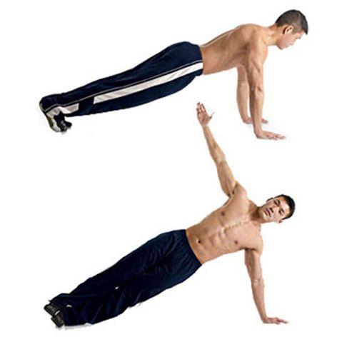 Chống đẩy và Plank nghiêng