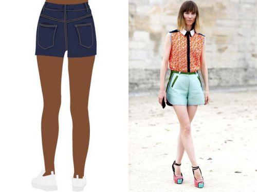 Cách mặc quần short đẹp với mông lép