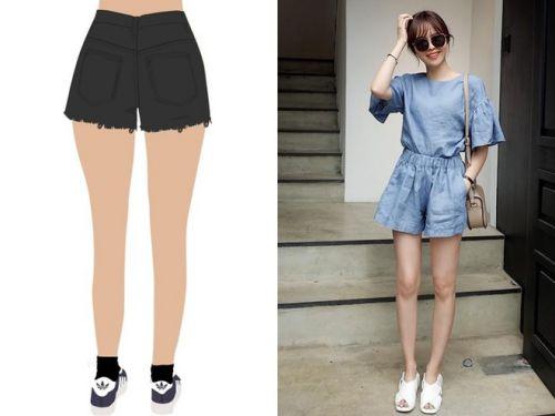 Mặc quần short đẹp cho người mông vuông