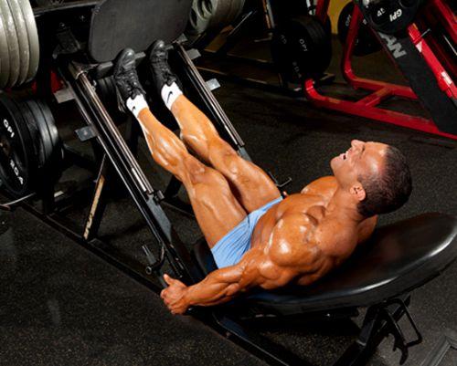 Tập bắp chân trên máy Leg Press