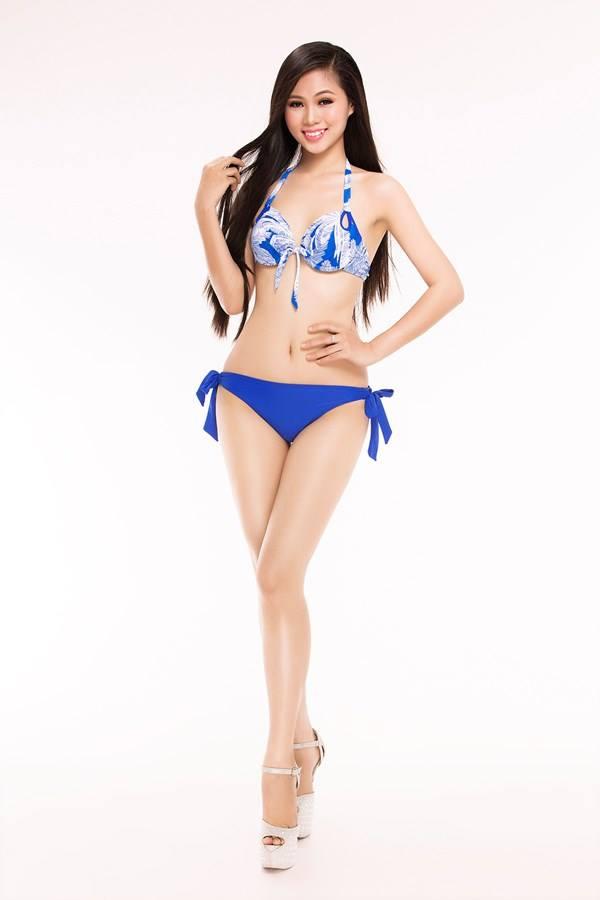 Thí sinh Hoàng Thị Phương Thảo, đến từ TP.HCM, cao 1,68 m, nặng 50 kg và sở hữu số đo ba vòng 83-63-92.