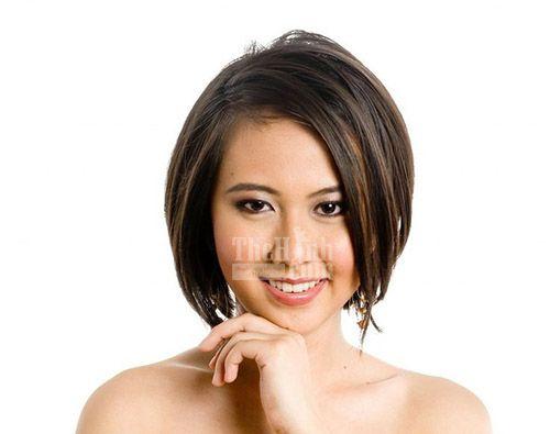 Các kiểu tóc ngắn cho khuôn mặt tròn