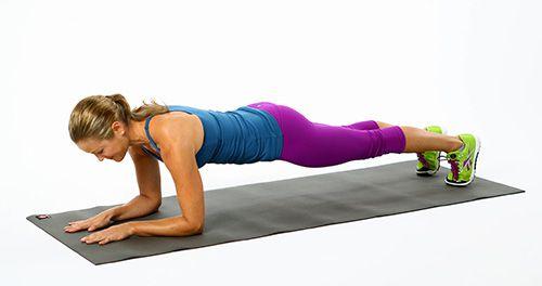 Plank thấp cho nữ giúp cơ bụng khỏe