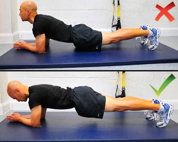 Sai làm khi tập Plank