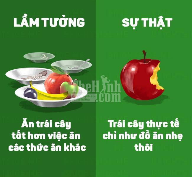 Ăn trái cây không thay thế hoàn toàn được các thực phẩm khác