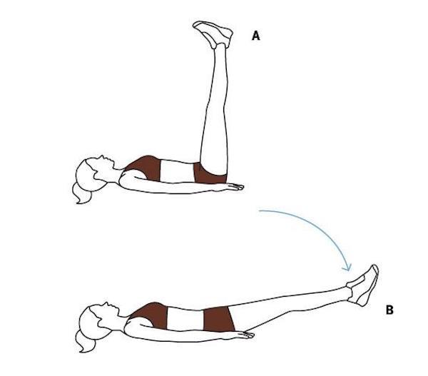 Bài tập gập bụng ngược cơ bản