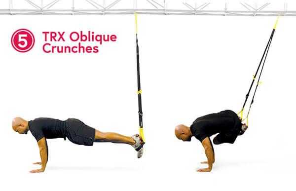 TRX Oblique Crunches - Gập bụng chéo
