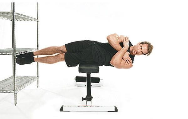 Bài plank nghiêng trên ghế - Off-Bench Side Plank
