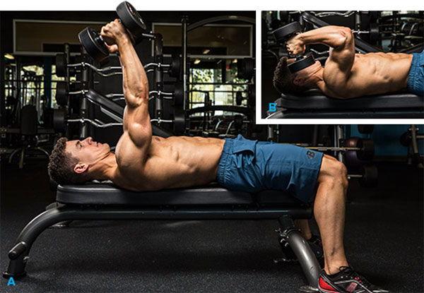 Lying Dumbbell Triceps Extension - Bài tập co duỗi tay sau với tạ đơn